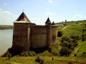 Historicky pevnost chocim. — Stock fotografie
