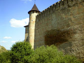 Historically a fortress Chocim. — Stock Photo