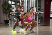 Pár fitness cvičení 08 — Stock fotografie