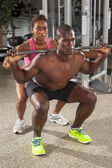Couple fitness workout 07 — Stock Photo