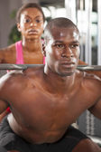 Couple fitness workout 06 — Stock Photo