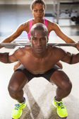 Couple fitness workout 02 — Stock Photo