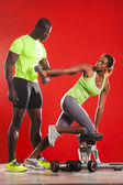 Couple fitness workout 01 — Stock Photo