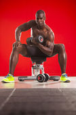 Muscled man workout 09 — Stock Photo