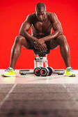 Muscled man workout 08 — Stock Photo
