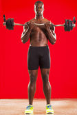 Muscled man workout 06 — Stock Photo