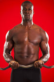 Muscled man workout 05 — Stock Photo