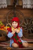 小女孩喜欢俄罗斯干燥. — 图库照片
