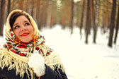 Russian beauty. — Stock Photo