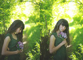 Girl in lilac. — Stock Photo