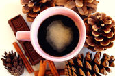 The cosy warmth of coffee — Stock Photo