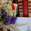 Stock Photo: Field flowers in library.