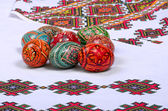 Easter eggs painted beautiful and colorful, Пасха — 图库照片