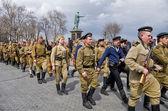 Odessa, Ukraine - April 10: Fragment reconstruction of combat events in 1944 liberation of Odessa, День победы — Stock Photo