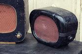 Old radios, vintage image retro style — Stock Photo
