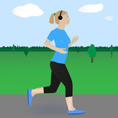 Running woman — Stock Vector