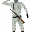 Stock Vector: Soldier with rifle.