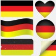 Stock Vector: Germany icon set of flags.
