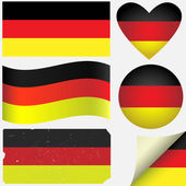 Germany icon set of flags. — Stock Vector