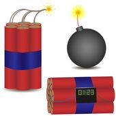 Pyrotechnic set — Stock Vector