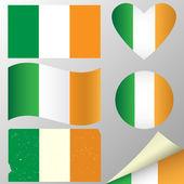 Ireland flags set — Stock Vector
