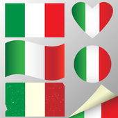Italy flags set — Stock Vector