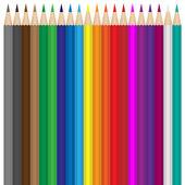 Conjunto de lápis de cor — Vetorial Stock