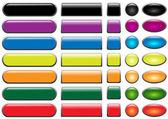 Renkli web düğme kümesi — Stok Vektör