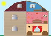 House interior — Stock Vector