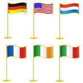 Collection of flags. — Stock Vector