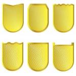 Golden signs set — Vetorial Stock