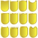 sinais dourados — Vetorial Stock
