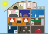 Dom wnętrze — Wektor stockowy