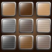 Botones de madera — Vector de stock