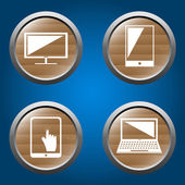 Insieme di dispositivi elettronici — Vettoriale Stock