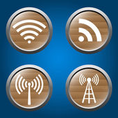 Wireless icons set for business or commercial use — Stock Vector