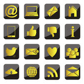 Set of vector social network icons — ストックベクタ