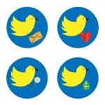 Постер, плакат: Twitter bird