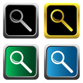 Magnifying glass set — Stock Vector