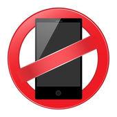 Mobile phone forbidden — Stock Vector