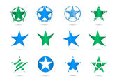 Star vector logos — Vecteur