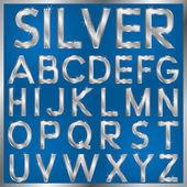 ασημένια γραμματοσειρά — Διανυσματικό Αρχείο