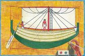Egyptian papyrus, drawing ship — Stock Photo