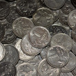 Scattering of Russian coins — Stock Photo