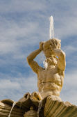 Triton Fountain, Gian Lorenzo Bernini, Barberini square, Rome — Stock Photo