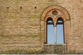 Ancient castle window, Italy — Stock Photo