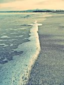 Foaming sea on the beach — Foto de Stock