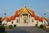 Marble temple in bangkok — Stock Photo