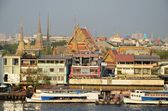 Bangkok panorama with grand palace — Stock Photo