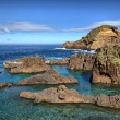 Stok fotoğraf: Natural lava-rock pools in Porto Moniz, Madeira, Portugal